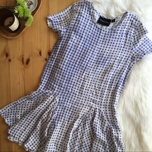 MINKPINK Blue and White Gingham Plaid Dress Small